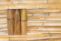 Bamboo construction interior view pattern Royalty Free Stock Photography