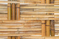 Bamboo construction interior view pattern Royalty Free Stock Photos