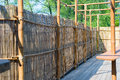 Bamboo constructions fence and other construction of in detail Royalty Free Stock Image