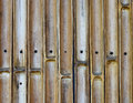 Bamboo cut wall with nail background Royalty Free Stock Photo
