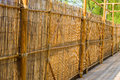Bamboo fance fence of in detail Stock Images