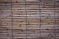 Bamboo fence background old wood Stock Photo