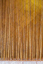 Bamboo fence close up decoration in building used as area partition Stock Image