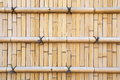 Bamboo fence in japanese style as background Royalty Free Stock Images