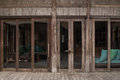 Bamboo folding doors .
