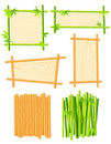 Bamboo frame set Stock Photos