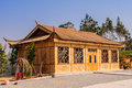 Bamboo house chinese in building construction Stock Photo
