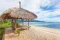 Bamboo hut beach sea Stock Image