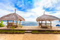 Bamboo hut beach sea Stock Photography