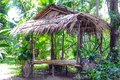 Bamboo hut a made with Royalty Free Stock Photos