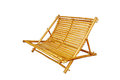 Bamboo lounge chair isolated on white background Stock Image