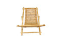 Bamboo lounge chair isolated on white background Royalty Free Stock Photo