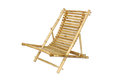 Bamboo lounge chair isolated on white background Stock Photo
