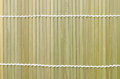 Bamboo mat for roll Sushi ; Japanese food Royalty Free Stock Photo