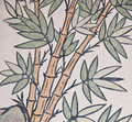 Bamboo painting on chinese temple wall Royalty Free Stock Photo