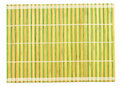 Bamboo placemat isolated Royalty Free Stock Photo