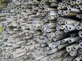 Bamboo poles and sticks Royalty Free Stock Photo