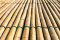Bamboo raft background of with a rope tightly bonded beautifully Stock Photo