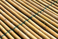 Bamboo raft background of with a rope tightly bonded beautifully Royalty Free Stock Image