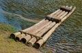The bamboo raft Royalty Free Stock Photo