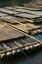 Bamboo Rafts Royalty Free Stock Image