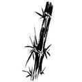 Bamboo Silhouette Drawing EPS Stock Image