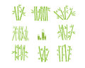 Bamboo Silhouette Graphic Design Royalty Free Stock Photo