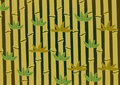 Bamboo stalks vector Royalty Free Stock Images