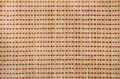 Bamboo strip asian ethnic or ethnicity concept flax thread wired mat background makes in shades of beige Stock Photos