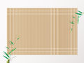Bamboo sushi rolling mat. background vector illustration. Royalty Free Stock Photo
