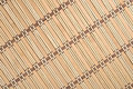 Bamboo tablecloth as background texture Stock Photos
