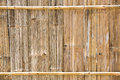 Bamboo texture close up old and dirty board used as rural house wall Stock Photo