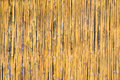 Bamboo texture golden arranged as the background fabric wall Stock Photography