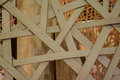 Bamboo truss structure architecture detail Royalty Free Stock Images