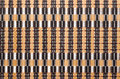 Bamboo unusual woven bamboo tablecloth as natural background Royalty Free Stock Photography