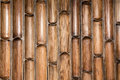 Bamboo wall pattern Royalty Free Stock Photo