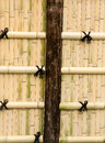 Bamboo walls for background and often seen in asia Royalty Free Stock Images