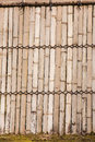 Bamboo walls is the thai style house wall Royalty Free Stock Photo