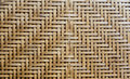 Bamboo weave as background texture of brown Stock Image