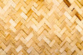 Bamboo weave native thai style Stock Image
