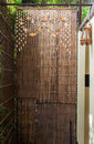 Bamboo weave partition of the natural house in thailand Royalty Free Stock Photography