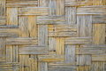 Bamboo weave pattern texture for background.Retro Wooden wall.Vi Royalty Free Stock Photo