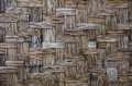 Bamboo weave wall background texture Royalty Free Stock Photos