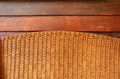 Bamboo weave with wood texture brown Royalty Free Stock Images