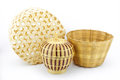 Bamboo wickerwork handcrafted indigenous in thailand culture Stock Photos