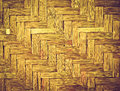 Bamboo wood texture thai handwork for background Royalty Free Stock Image