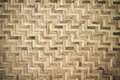 Bamboo wooden weave texture background as Royalty Free Stock Photography