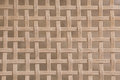 Bamboo woven wicker pattern square texture Royalty Free Stock Photo