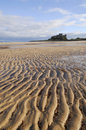 Bamburgh Castle and Beach Stock Photo