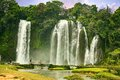Ban Gioc waterfall in Cao Bang, Viet Nam - The waterfalls are located in an area of mature karst formations were the original Royalty Free Stock Photo